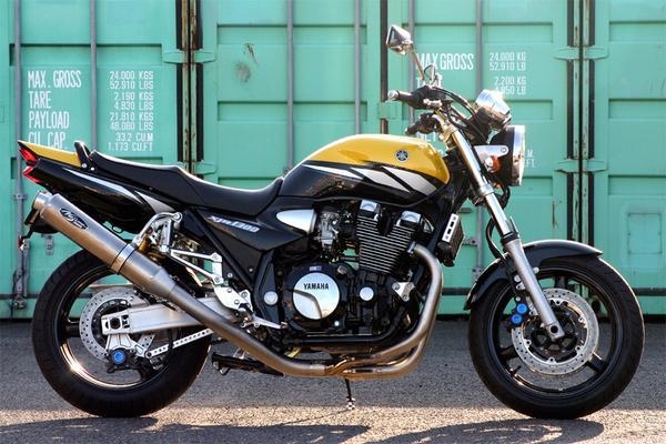 -06 XJR1300/1200 ノジマ FASARM S TITAN 機械曲げ マフラー Ti ( ntx215vti )