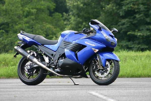 06-07 ZZR1400/ABS ノジマ FASARM Sチタン TWIN 機械曲 カーボン ( ntx623vcw-cl )