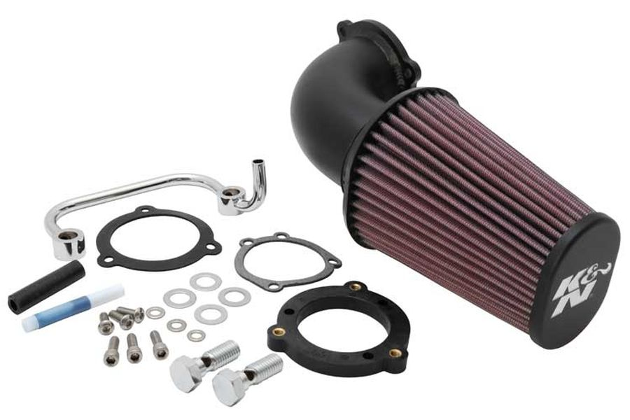 K&N/ケーアンドエヌ インテークキット AIRCHARGER ブラック SPORTSTER 07-17 (品番 63-1126)