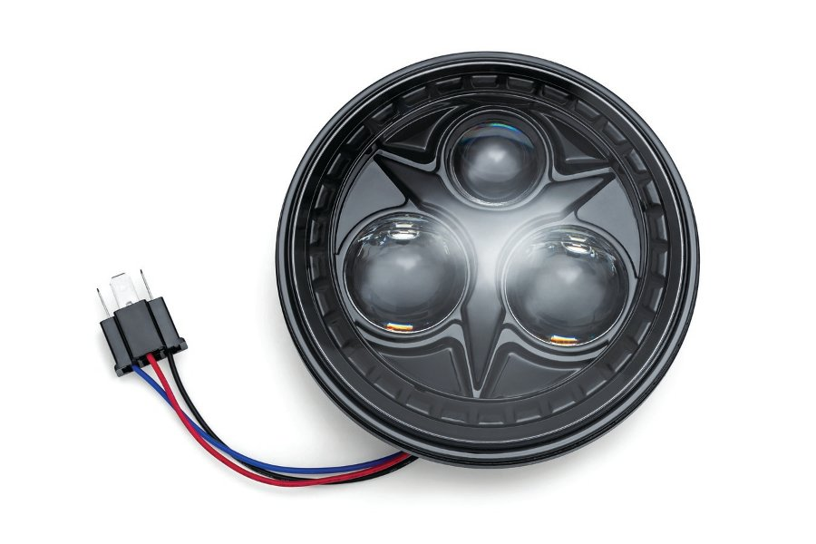 kuryakyn/クリアキン オービット5-3/4 LEDヘッドライト BLK 汎用  (品番 KUR-2475)