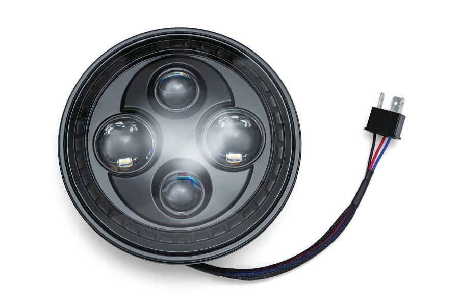 kuryakyn/クリアキン オービット 7インチ LED ヘッドライト BLK 汎用  (品番 KUR-2476)