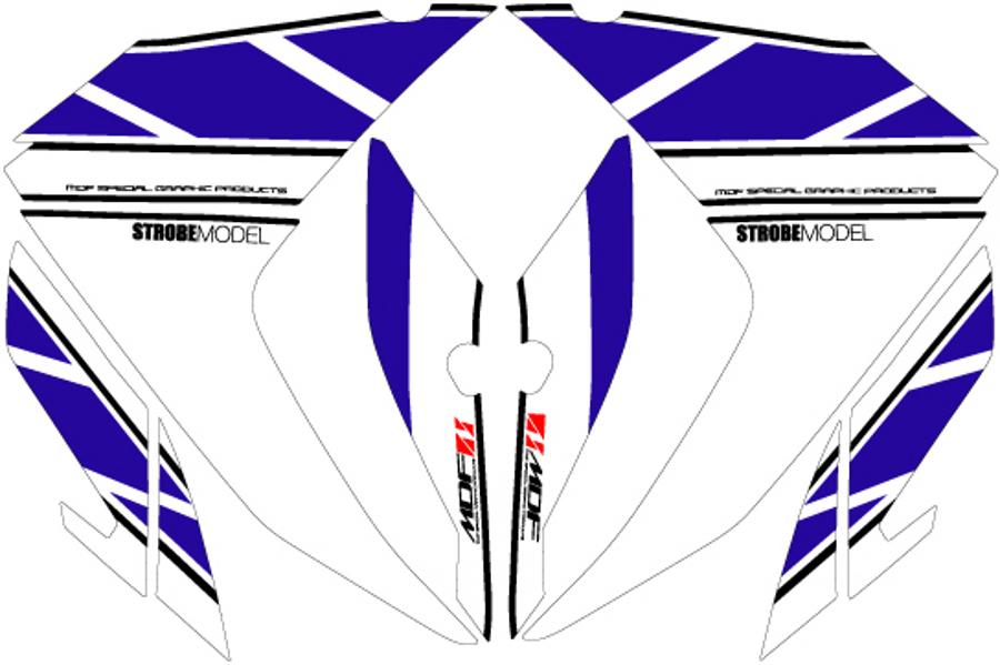 MDF/エムディーエフ  YZF-R3/R25 ストロボフロントサイドBU  (品番 MR25-D-BU-FS)