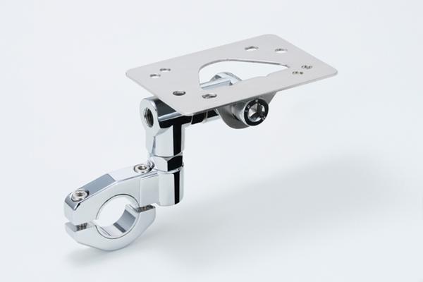 TANAX motofizz / タナックス モトフィズ  ETCハンドルマウントステー メッキ   22.2/25.4mm対応