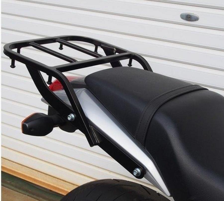 RIDINGSPOT/ライディングスポット リアキャリア ブラック VTR 09-(Fi車) 幅:328mm 長さ:210mm 最大積載重量 5kg