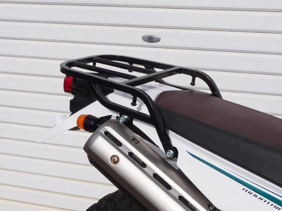 RIDINGSPOT/ライディングスポット リアキャリア ブラック SEROW250 幅:270mm 長さ:228mm