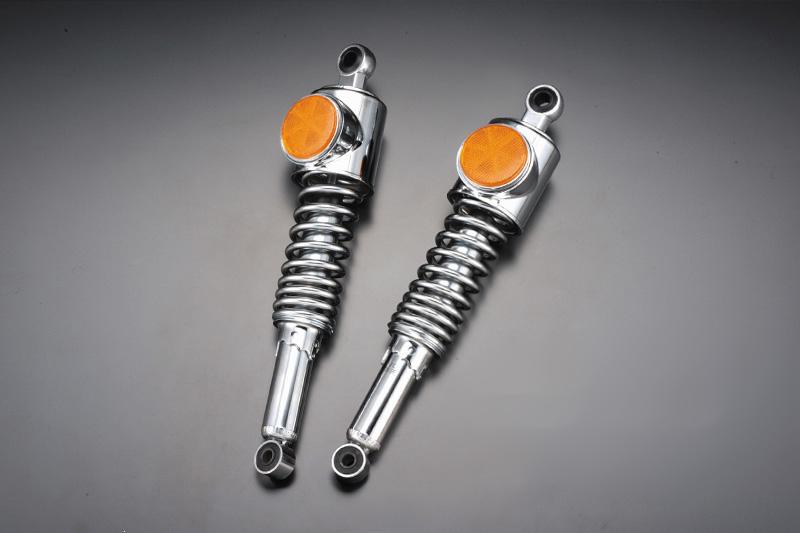 【PMC.Inc】 Z1/Z2 STDタイプ リアショック 強化型 メッキリム/オレンジ