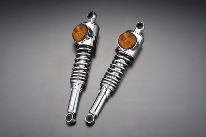 【PMC.Inc】 Z1/Z2 STDタイプ リアショック 純正型 ブラックリム/オレンジ