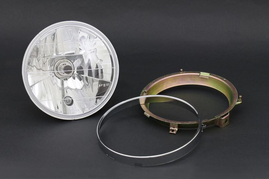PMC/ピーエムシー Brightec ヘッドランプ ラウンド インナーリム付 ヘッドライト対応 クリア
