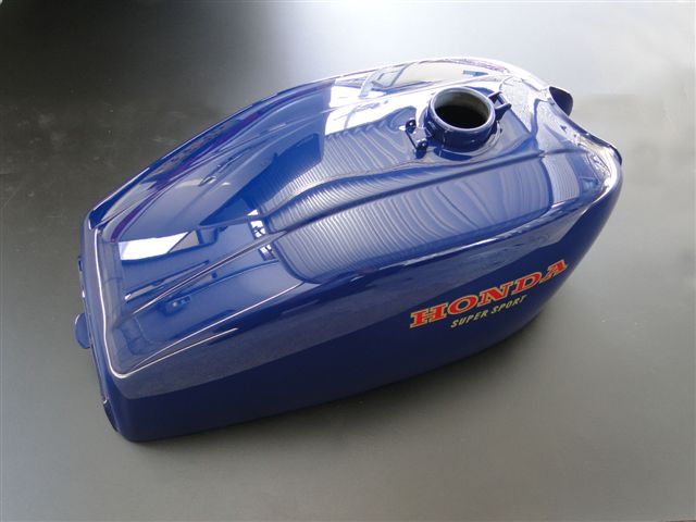 【PMC.Inc】 フューエルタンク CB400Four 【適応型式 CB400E (398cc) CB400FE (408cc)】 ※NC36車輌には適合しません。  398、408共用 ブルー