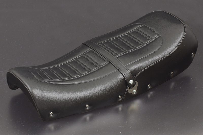 【PMC.Inc】 シートASSY  アンコ抜きタイプ CB400Four 【適応型式 CB400E (398cc) CB400FE (408cc)】 ※NC36車輌には適合しません。  ブラック