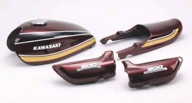 Z1/Z2 '75 Bモデル PMC/ピーエムシー ペイント済 タンク 単品 玉虫マルーン (タンク容量 16L)