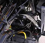 PMC/ピーエムシー GPZ750 ラジエターホース キャップout-ラジエターin ブルー
