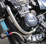 PMC/ピーエムシー GPZ750 ラジエターホース ポンプout-シリンダーin ブルー