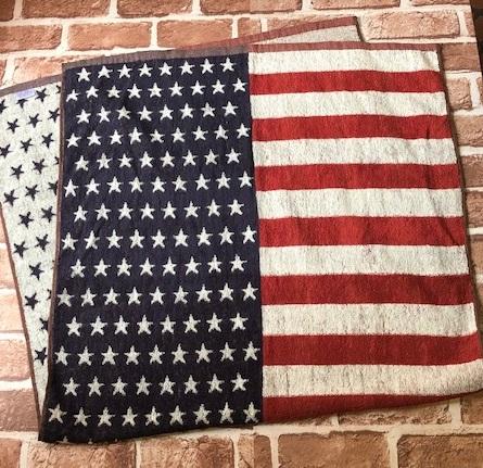 テレビで話題 NEWアイテム 星条旗 バスタオル フラッグ アメリカンカントリー [ギフト/プレゼント/ご褒美] アメリカン