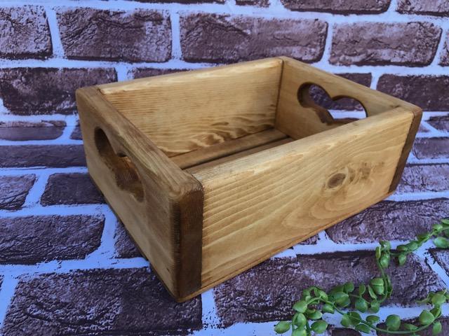 ハート木箱 S 希少 ハンドメイド 手作り 日本製 カントリー木製品 出群 収納