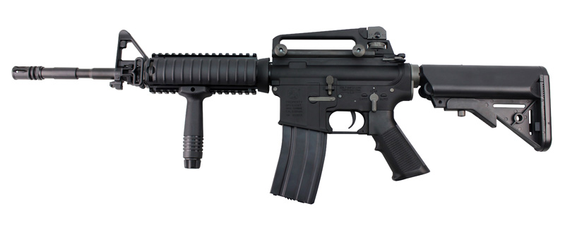 King Arms Colt M4 RIS AEG BK (JP Ver./Real Marking)