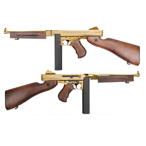 King Arms Thompson M1A1 Military Grand Special Gold AEG (JP Ver.)