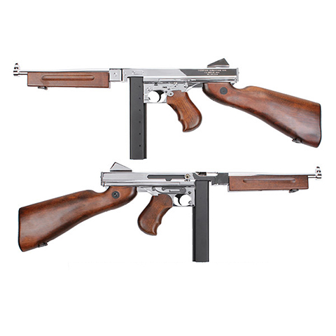 King Arms Thompson M1A1 Military Grand Special Silver AEG (JP Ver.)