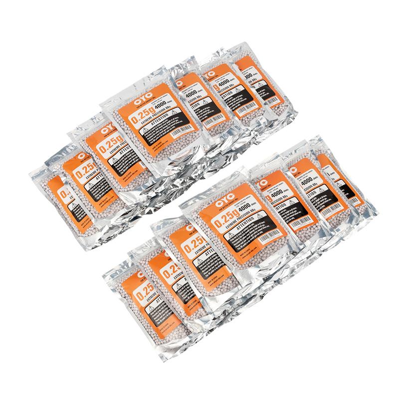 【最安値に挑戦!】 20袋セット!CYC精密BB弾 0.25g 4000発入(プラスチック)