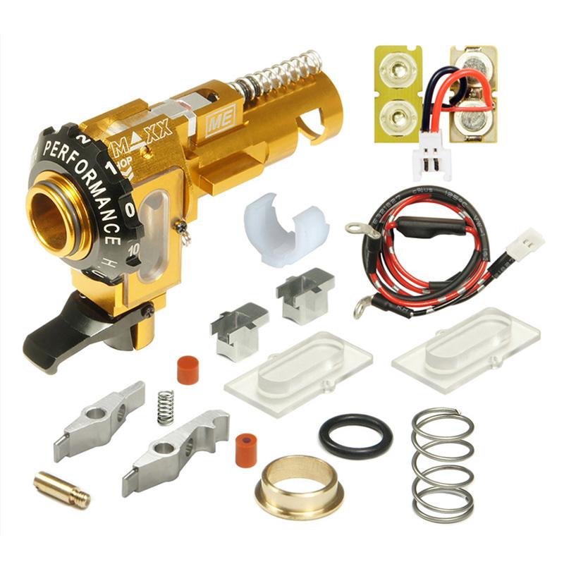 【ポイント10倍!6月11日8時59分まで】Maxx Model CNCアルミ HOP-UPチャンバー ME - PRO (Dual UV LEDトレーサーユニット付属/STD M4 AEG対応)