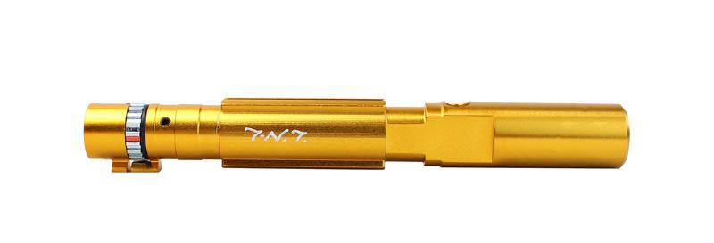 【ポイント10倍!3月10日8時59分まで】T-N.T. APS-X HOP-UP CNCレトロフィットキット 143mm (KSC/KWA MP9 TP9 GBB対応) GOLD