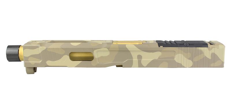 ACE1 ARMS FI MK2スタイル G17カスタムスライドセット セラコート FDE/CAMO