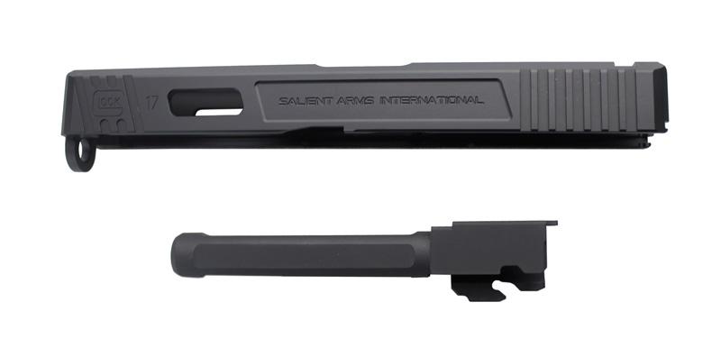 【パーツ類ポイント10倍!2月26日8時59分まで】Guns Modify SAIタイプ CNCアルミスライド/4 Fluted Nitride BKバレルセット 東京マルイG17対応
