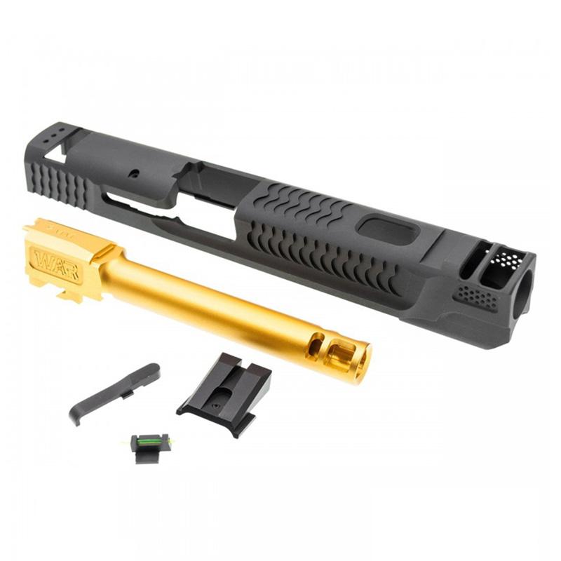 JDG WAR Afterburner M&P1.0 スライドセット (Ti-Grey Slide+Gold Barrel/Licensed/東京マルイ M&P9対応)
