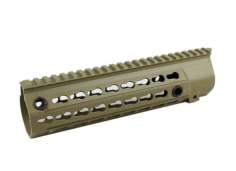 【ポイント10倍!3月10日8時59分まで】5KU 9.5inch HK416用KeyModレールハンドガード TAN