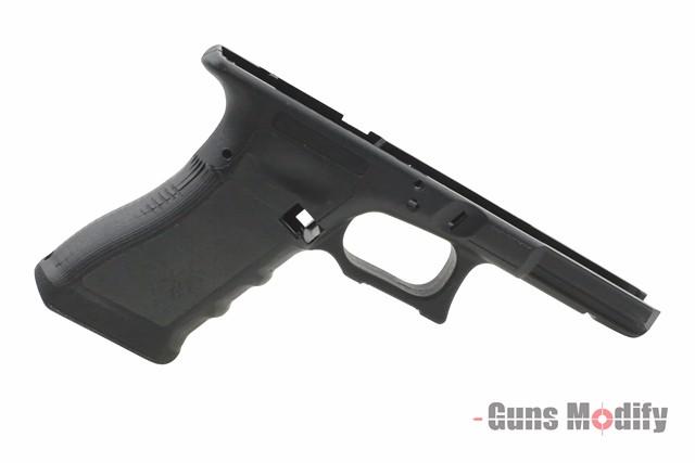 【ポイント10倍!12月24日8時59分まで】Guns Modify ZEVスタイル Gen.3 RTFカスタムフレーム (東京マルイグロックシリーズ対応/スティップリング未加工) BK