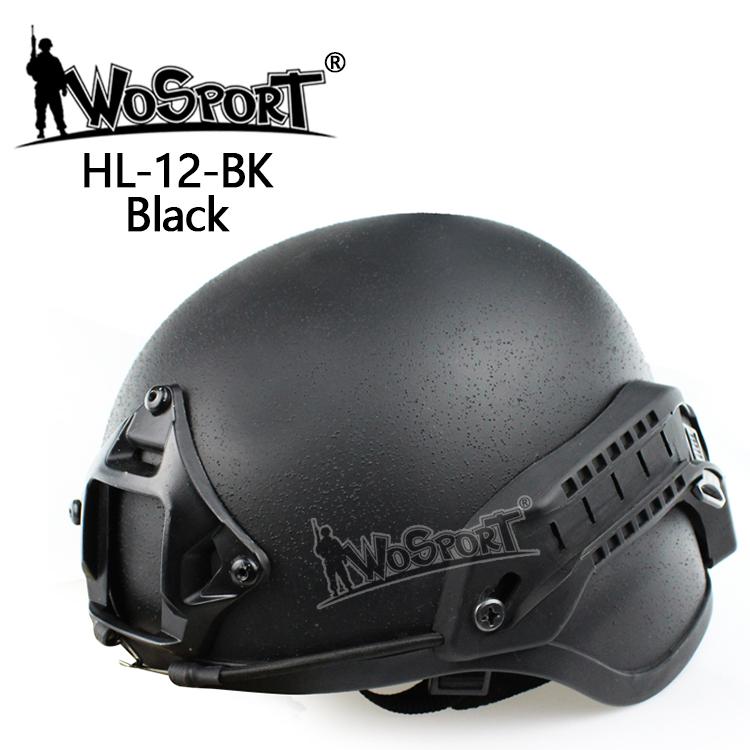 【ポイント10倍!12月24日8時59分まで】WoSporT MICH 2000タイプ ヘルメット マウント付 BK