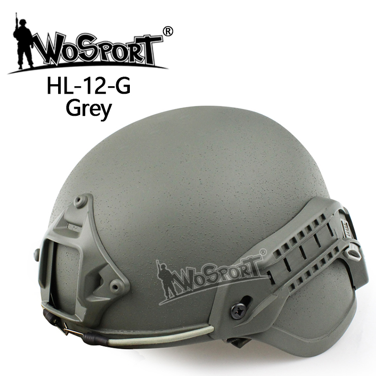 【ポイント10倍!12月24日8時59分まで】WoSporT MICH 2000タイプ ヘルメット マウント付 GREY
