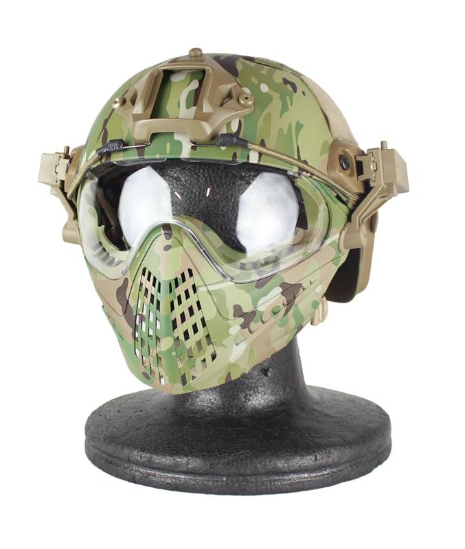 WoSporT パイロットタクティカルヘルメット PJ (FASTヘルメットアダプターver.) MC L