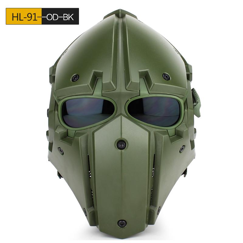 WoSporT モジュラーヘルメット ファン付 Green Goblin