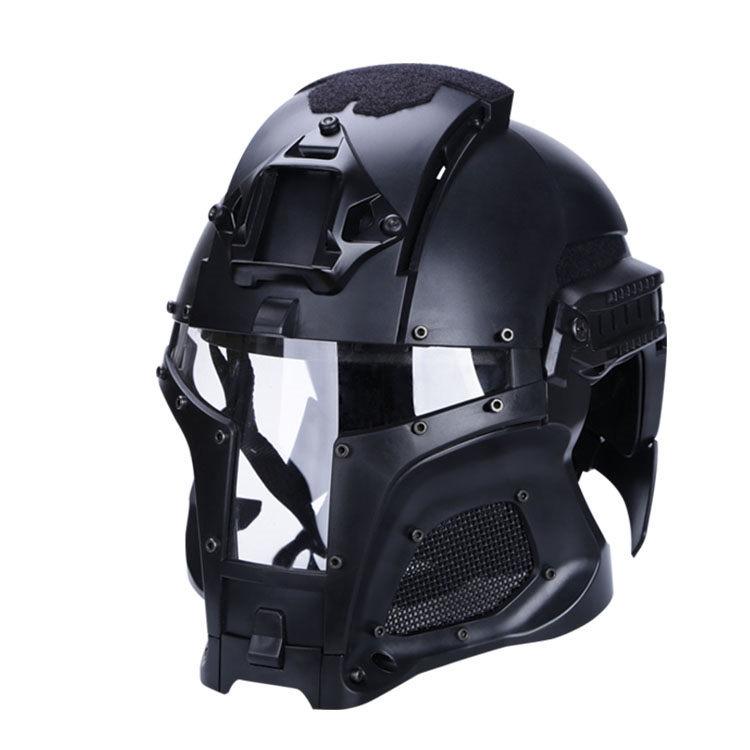 【ポイント10倍!6月11日8時59分まで】WoSporT Medieval Iron Warrior ヘルメット BK