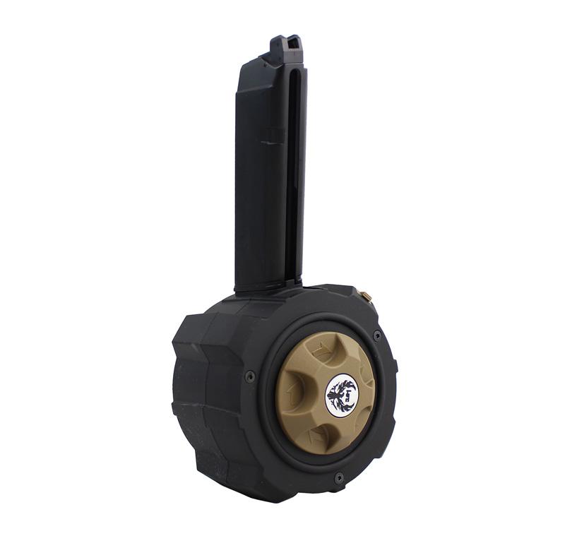 【パーツ類ポイント10倍!2月26日8時59分まで】HFC Glockシリーズ用 145連ガスドラムマガジン