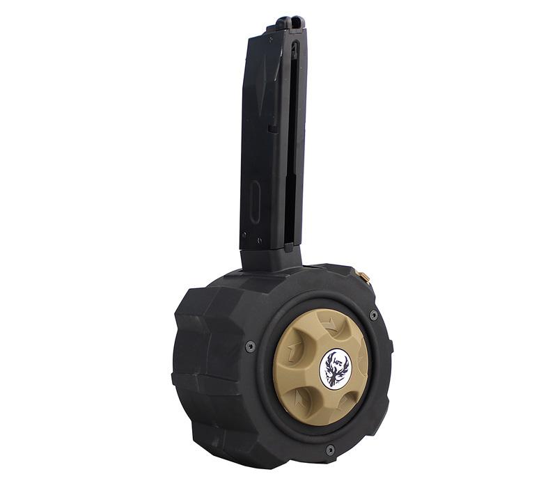 【パーツ類ポイント10倍!2月26日8時59分まで】HFC Airsoft Beretta M9/M92F用 145連ガスドラムマガジン
