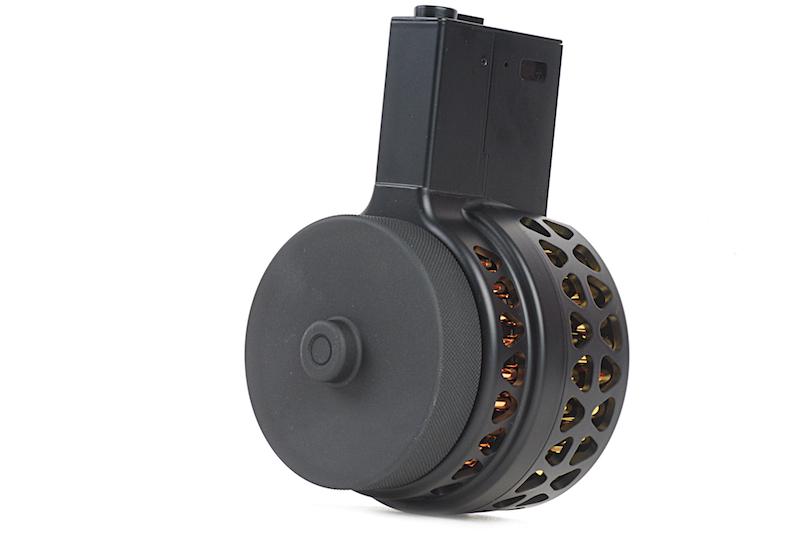 AIRSOFT X-15スタイル M4/M16用 音感電動ドラムマガジン BK 1000連 【パーツ類ポイント10倍!2月26日8時59分まで】IRON XProducts