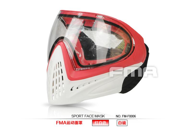 【ポイント10倍!12月24日8時59分まで】FMA ペイントボール用フルフェイスマスク RED/WHITE