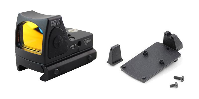 【パーツ類ポイント10倍!23日8時59分まで】Airsoft Artisan Glock RMRタイプドットサイト/マウントセット (WEグロックシリーズ対応)