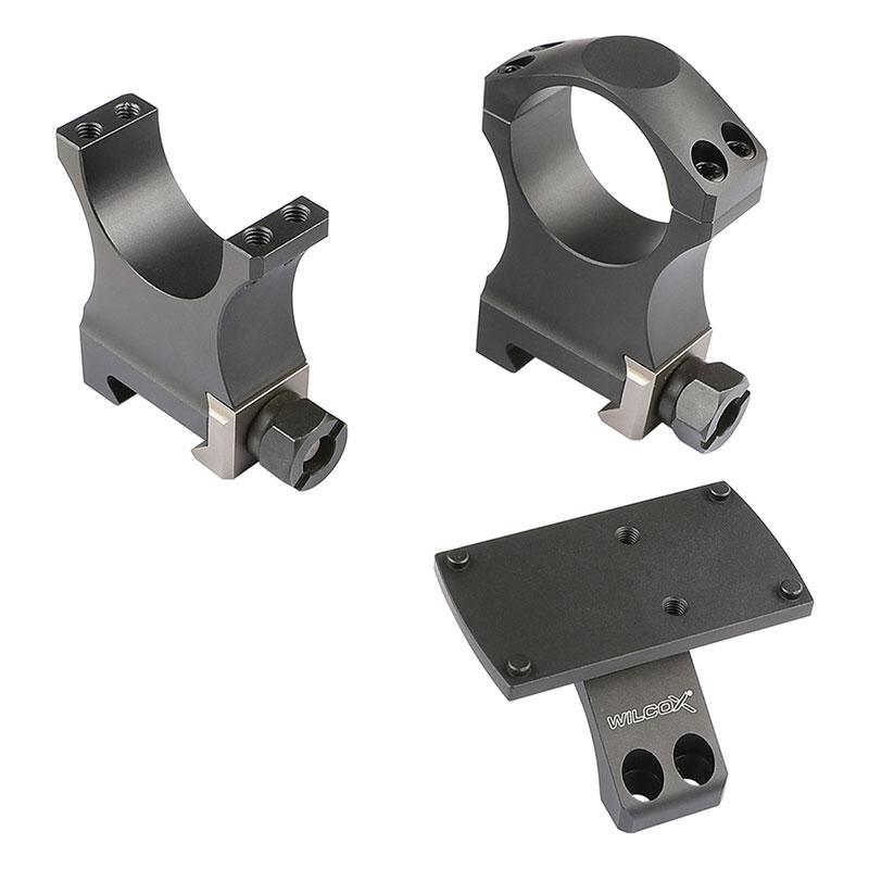 Vector 買取 Opticsミニドットサイトをマウント可能なナイトフォースタイプマウントリング Airsoft Artisan 人気ショップが最安値挑戦 Opticsミニレッドドットマウント搭載 30mmスコープマウントリング NFタイプ