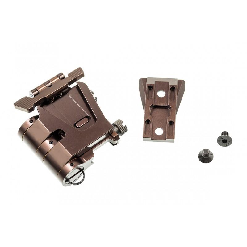 【パーツ類ポイント10倍!2月26日8時59分まで】C&C Tac Wilcoxタイプ EOTech G33/G23マグニファイヤーフリップマウント Glossy Copper Brown