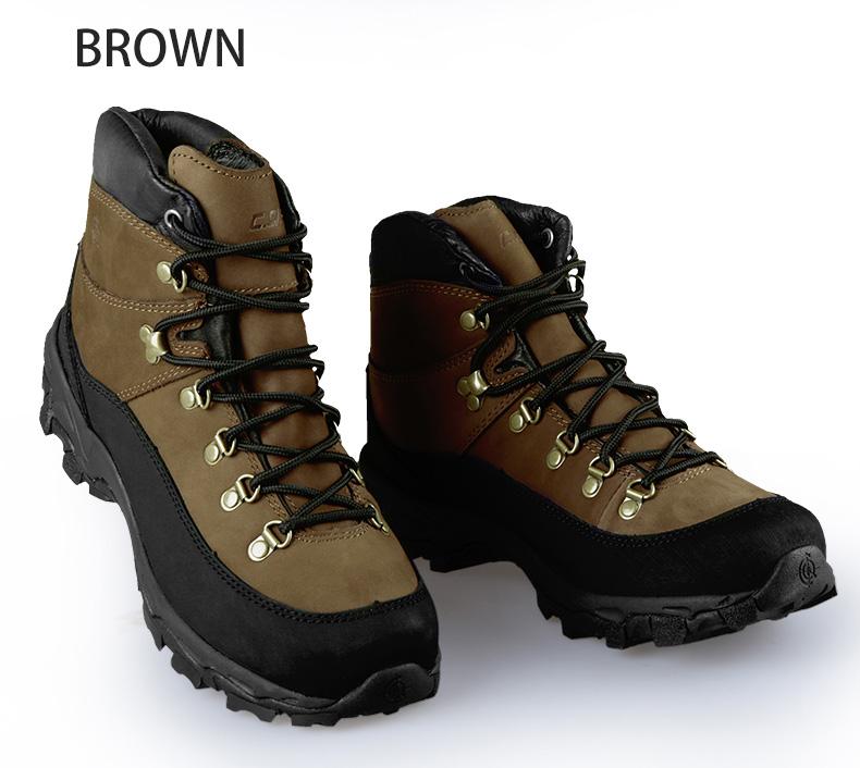 C.Q.B マウンテンコンバットレザーブーツ BROWN ブラウン 24.5cm/39