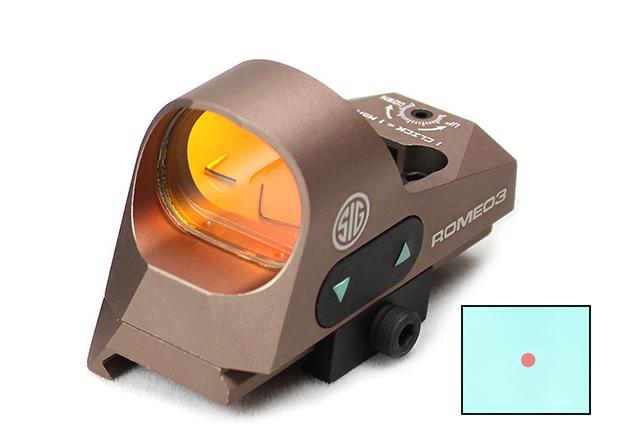 Sig Sauer ROMEO3 1×25mmタイプ オープンドットサイト FDE
