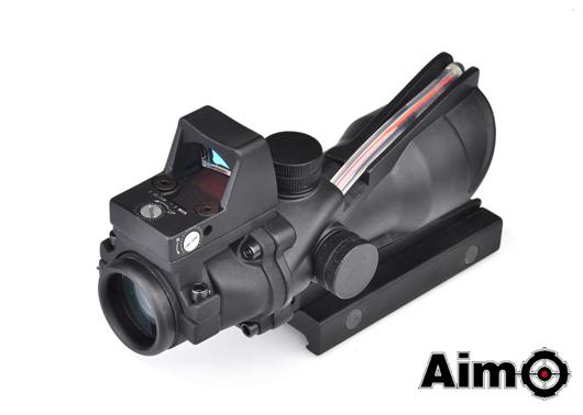 ELEMENT(Aim-O) Trijicon TA01 ACOGタイプ 4×32スコープ RED集光チューブ/RMRドットサイト BK