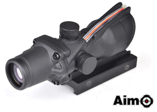 M4 M16のドレスアップに最適 ELEMENT Aim-O Trijicon 4×32スコープ ACOGタイプ BK ダミー集光チューブ TA01 国内正規品 購買