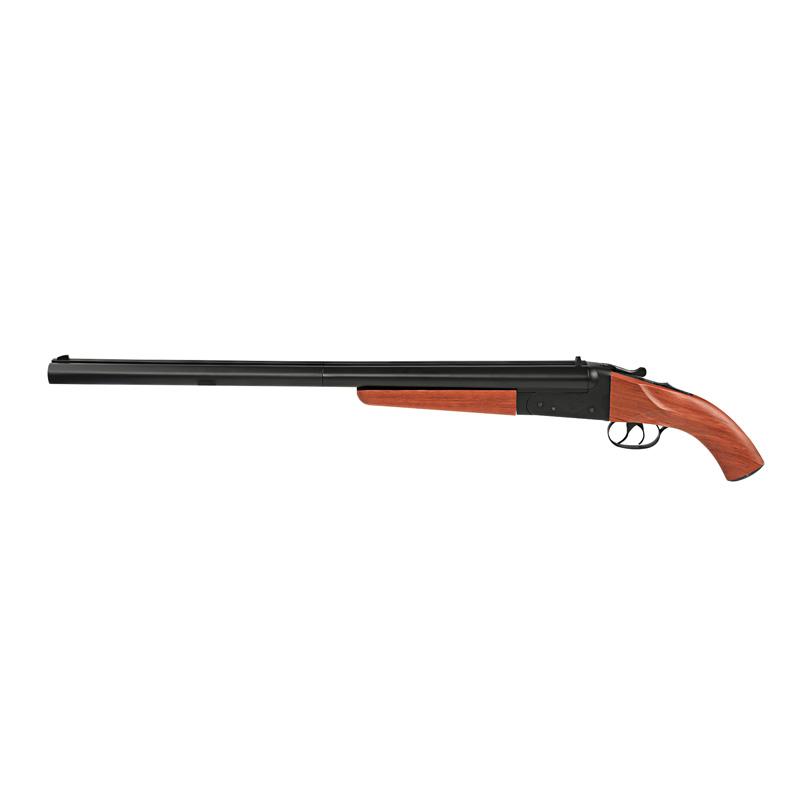 NEWバージョン 新銃刀法適合品 華山 MAD MAX マッドマックス ロング ダブルバレル 花梨木グリップ 日本仕様ガスシェル2個付