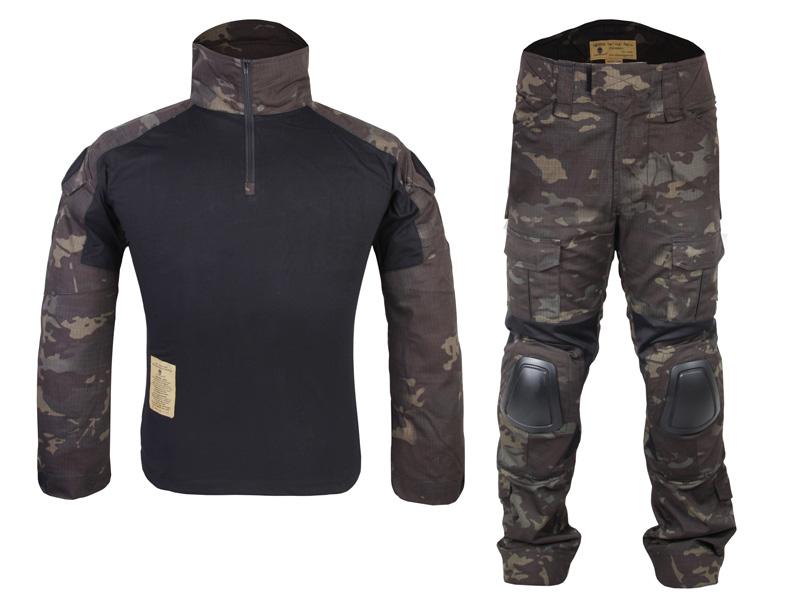EMERSON CRYE Gen2タイプ コンバットシャツ 上下セット マルチカムブラック MCBK XLサイズ