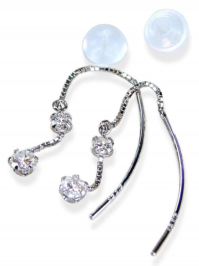 ダイヤピアスK18WG合計0.2カラットブラ上質ダイヤモンド!【送料無料】【4月誕生石ダイヤ】【レディース,激安,特価,通販】