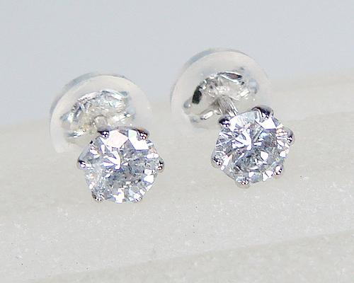 ダイヤピアスK18WGホワイトゴールドスタッド合計0.30カラット一粒ダイヤモンド!7151【送料無料】【誕生石4月】【4月誕生石ダイヤ】【レディース,激安,特価,通販】